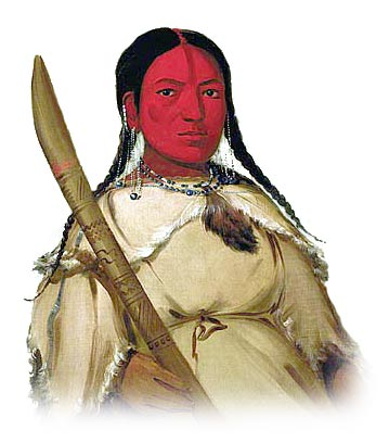 Picture of an Assiniboine Sioux Woman