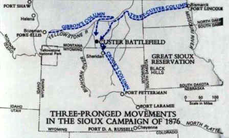 Battle of Little Bighorn Map