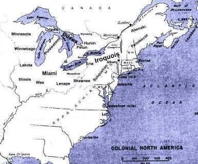 Iroquois Confederacy Map Beaver Wars