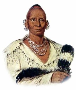 Picture of Black Hawk, famous chief of the Sauk tribe
