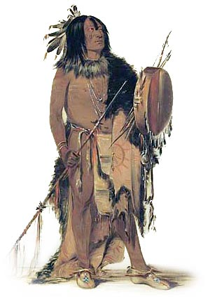 Blackfoot Medicine Man and Shield