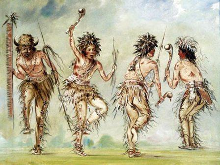 Native American Dancers by George Catlin