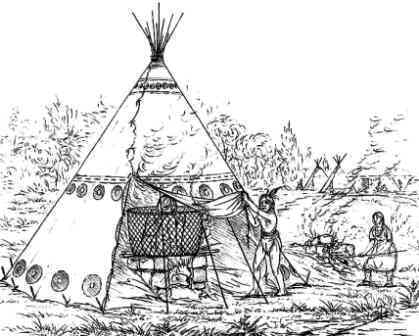 Vapour Bath by George Catlin