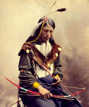 Cherokee with bow and arrow