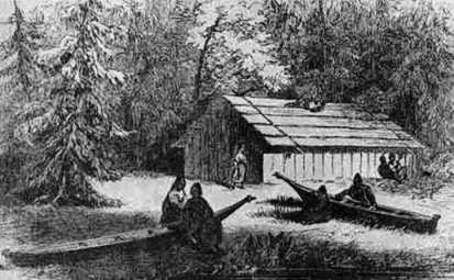 chinook-plankhouse Tillamook Indians Tribes Plank House on make a chinook indian house, makah indian wooden house, pacific northwest tribes house, tillamook native american housing,
