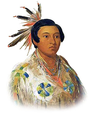 Picture of a Chinook Northwest Native Indian