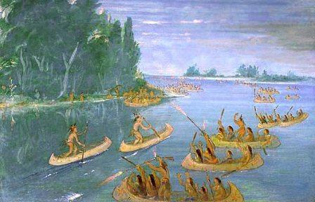 Native Indian Canoes: Chippewa Canoes
