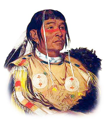 Picture of a Plains Ojibwe Chippewa
