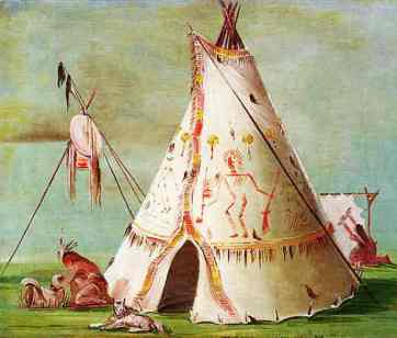 Crow Native American Indian Tribe: Crow Tepee