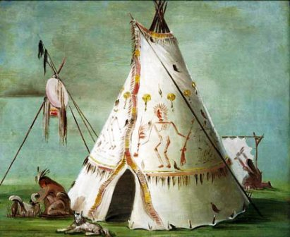 The Native American Tepee Also Tipi Tepe Tipee Or Teepee Was A Typical Structure Used As Shelter House Style That Built By Many