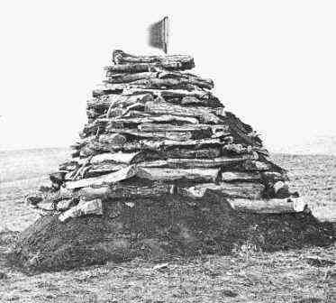 Photo of the Custer Hill Monument at the site of the Battle of Little Bighorn