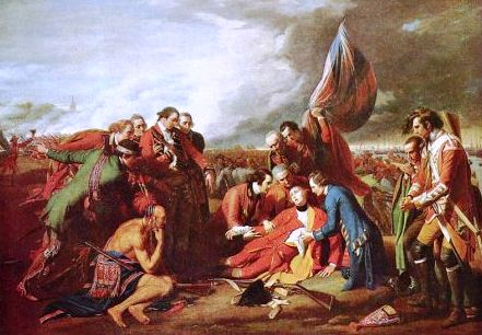 Death Gen Wolfe 1759 Battle of Quebec of the French Indian' War