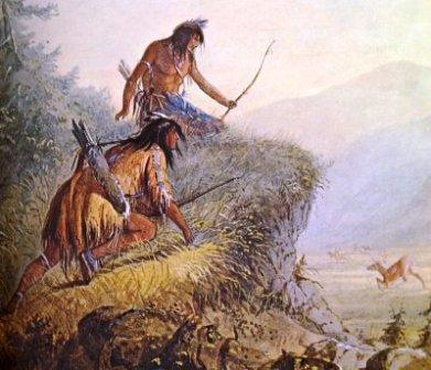 Iroquois Indians deer hunting