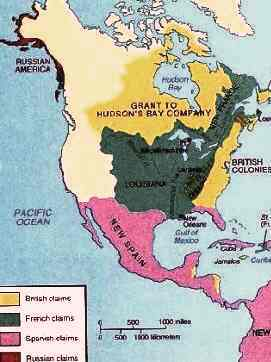 French Indian War Map of Colonies