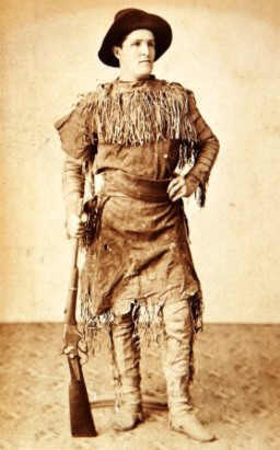 Frontiersman wearing Buckskin Clothing