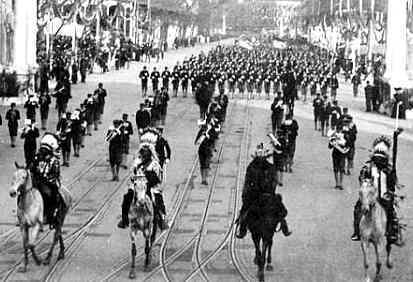 leading President Theodore Roosevelt's Inaugural Parade in 1905