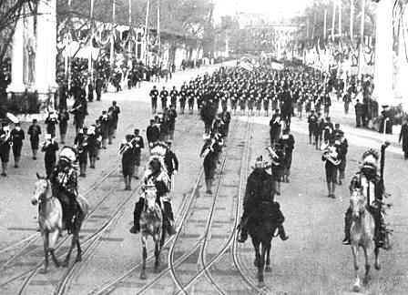 Geronimo at Roosevelt Inauguration Parade in 1905