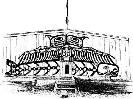 Picture of a Haida Plankhouse