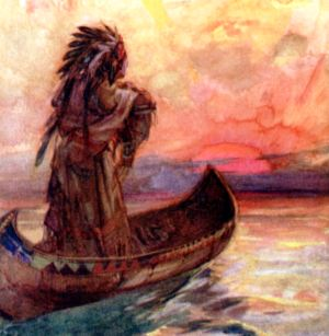 Painting depicting Hiawatha