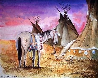 Painted Native American Horse