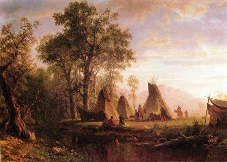Indian Village with tepees
