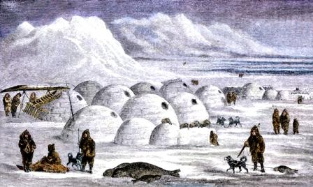 Inuit Village And Igloos Igloo