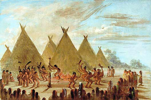 Picture of a Lakota Sioux War Dance