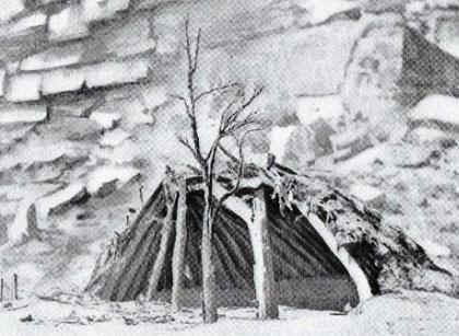 Native Indian Tribes - Lean-to shelter