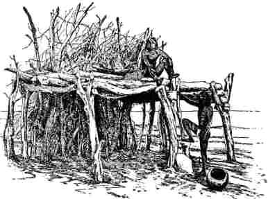 Native American Indian Tribes - Lean-to shelter