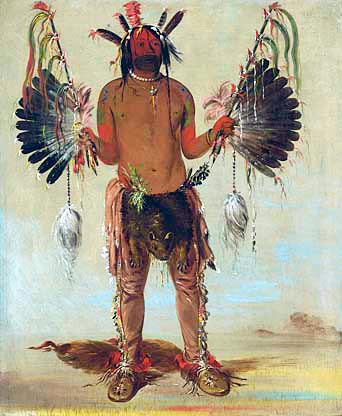 Medicine Man Smudging Feathers