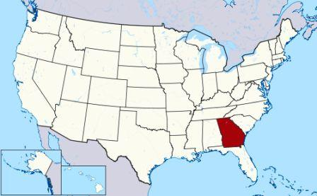 State Map showing location of Georgia Indians