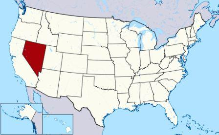 State Map showing location of Nevada Indians