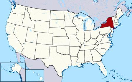 State Map showing location of New York Indians