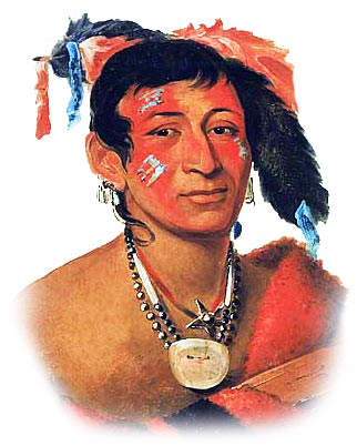 Picture of a Menominee Warrior