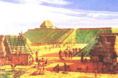 Mississippian culture - Reconstruction of Mound Builders homes and houses