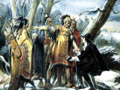 Roger Williams with the Narragansett Native Indians