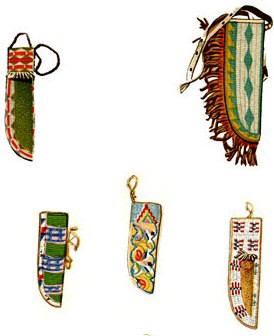 Native American Beaded knife sheaths
