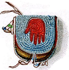 Hand Symbol on Kiowa Beaded Bag