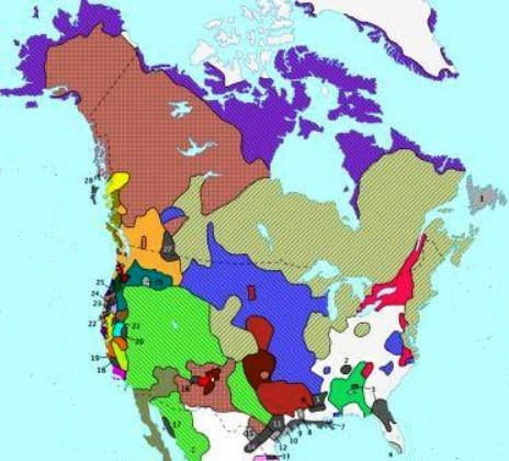 Map Of Canada Languages.Native American Languages Map