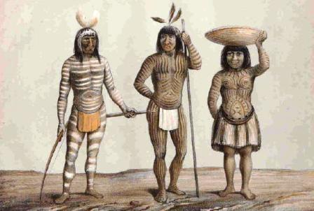 Early depiction of Navajo Indians
