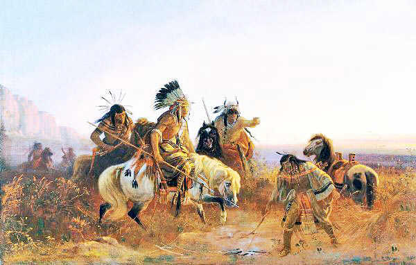 Pawnee Indians on the Great Plains