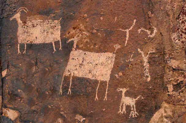 Indian Petroglyphs Utah
