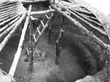 Picture Of A Native Indian Pit House Framework