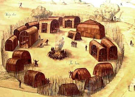 Longhouse Native Indian Houses For Kids