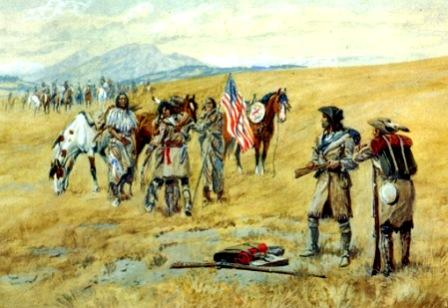 Shoshone Tribe meets Captain Lewis