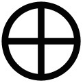 Solar Cross Symbol