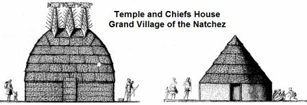 Temple and Chiefs House at the Grand Village of the Natchez
