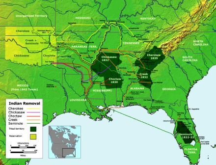 Trail of Tears Map of Route