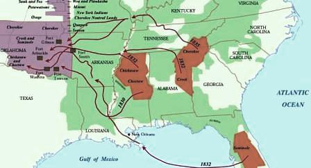 Trail of Tears Map ***