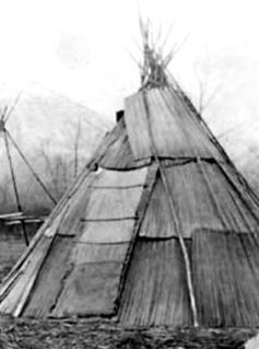 Picture Of A Tule Mat Lodge
